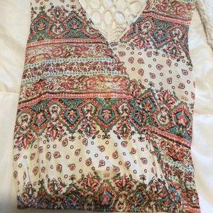 Crochet back tank top